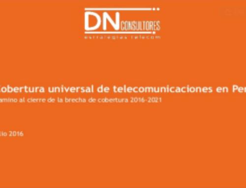 Cobertura universal de telecomunicaciones en Perú Camino al cierre de la brecha de cobertura 2016-2021