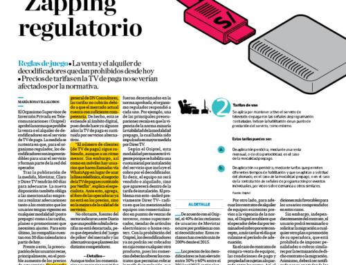 Zapping regulatorio: Osiptel prohíbe venta y alquiler de decodificadoresEl Comercio