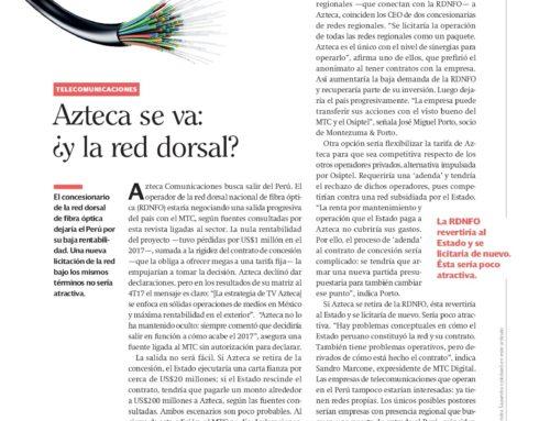 Azteca se va: ¿y la red dorsal?Semana Económica