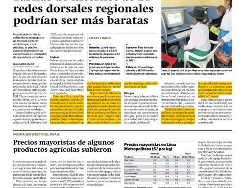 Tarifas de Internet de 21 redes dorsales regionales podrían ser más baratasGestión