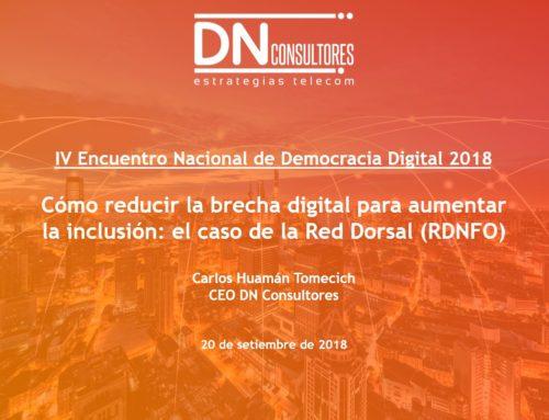 ¿Cómo reducir la brecha digital para aumentar la inclusión?IV Encuentro Nacional de Democracia Digital 2018