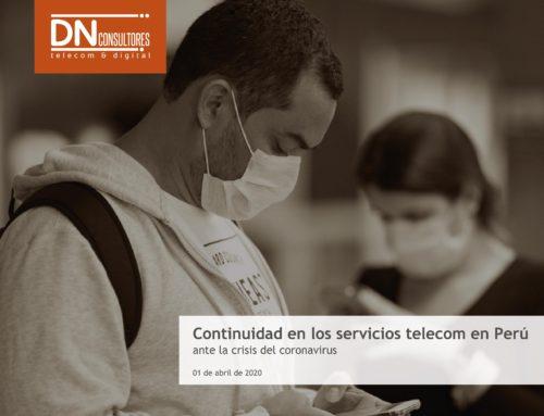 Continuidad de los servicios telecom en Perúante la crisis del coronavirus